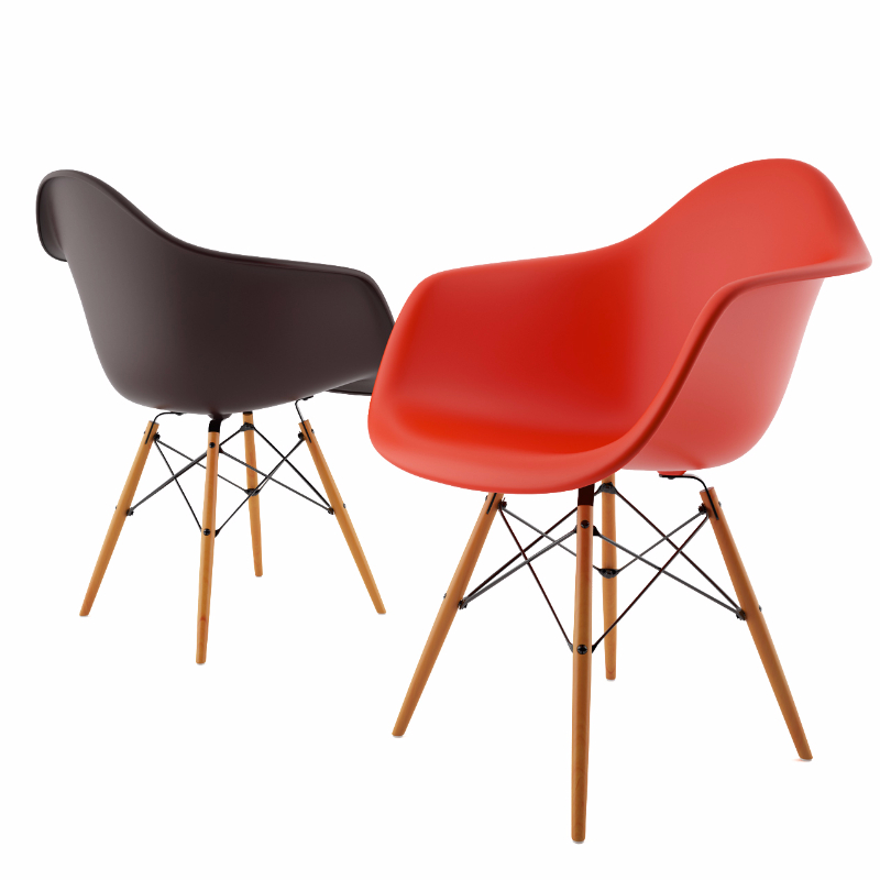 3d model Armchair DAW by Vitra Eames