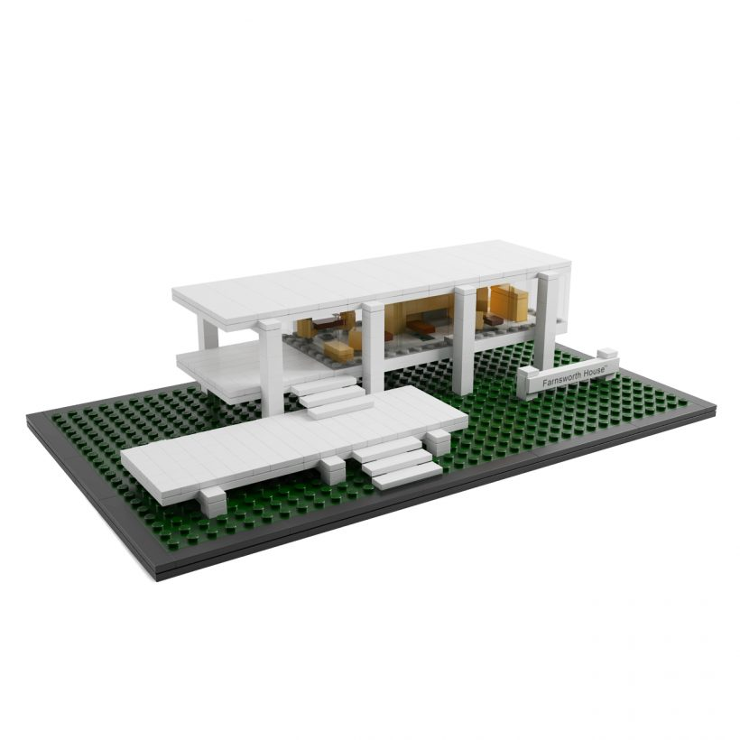 3d model Farnsworth House by Lego