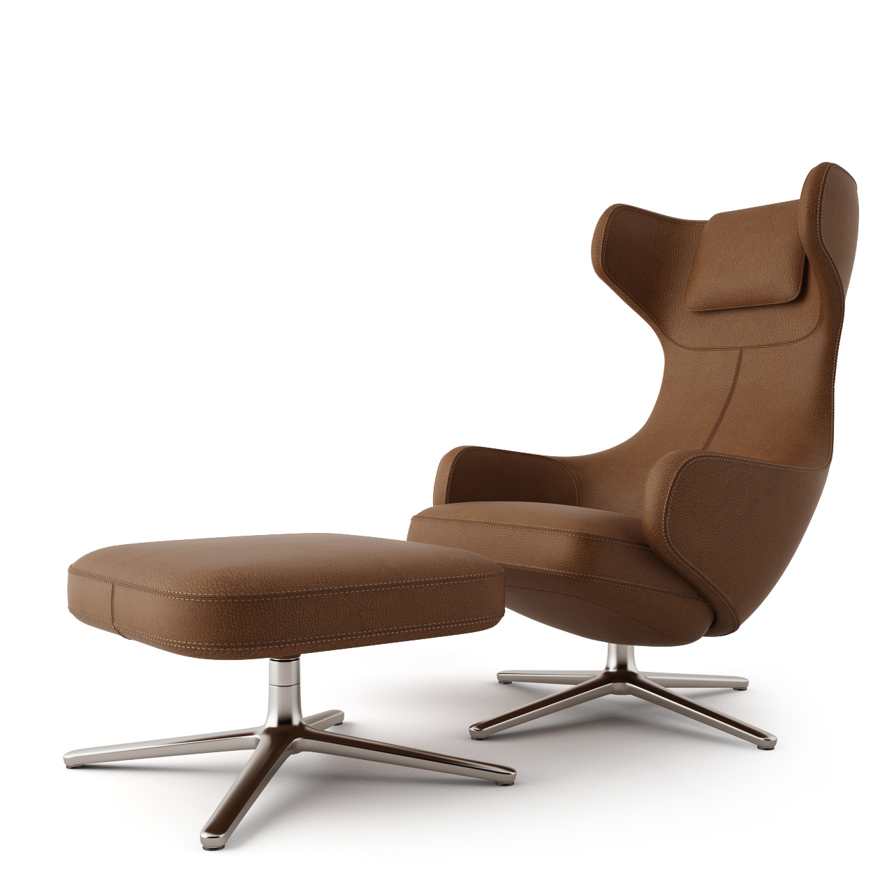 Grand repose lounge chair by vitra dimensiva for Vitra lounge chair nachbau