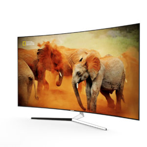3d model KS9500 Curved 4K SUHD TV by Samsung