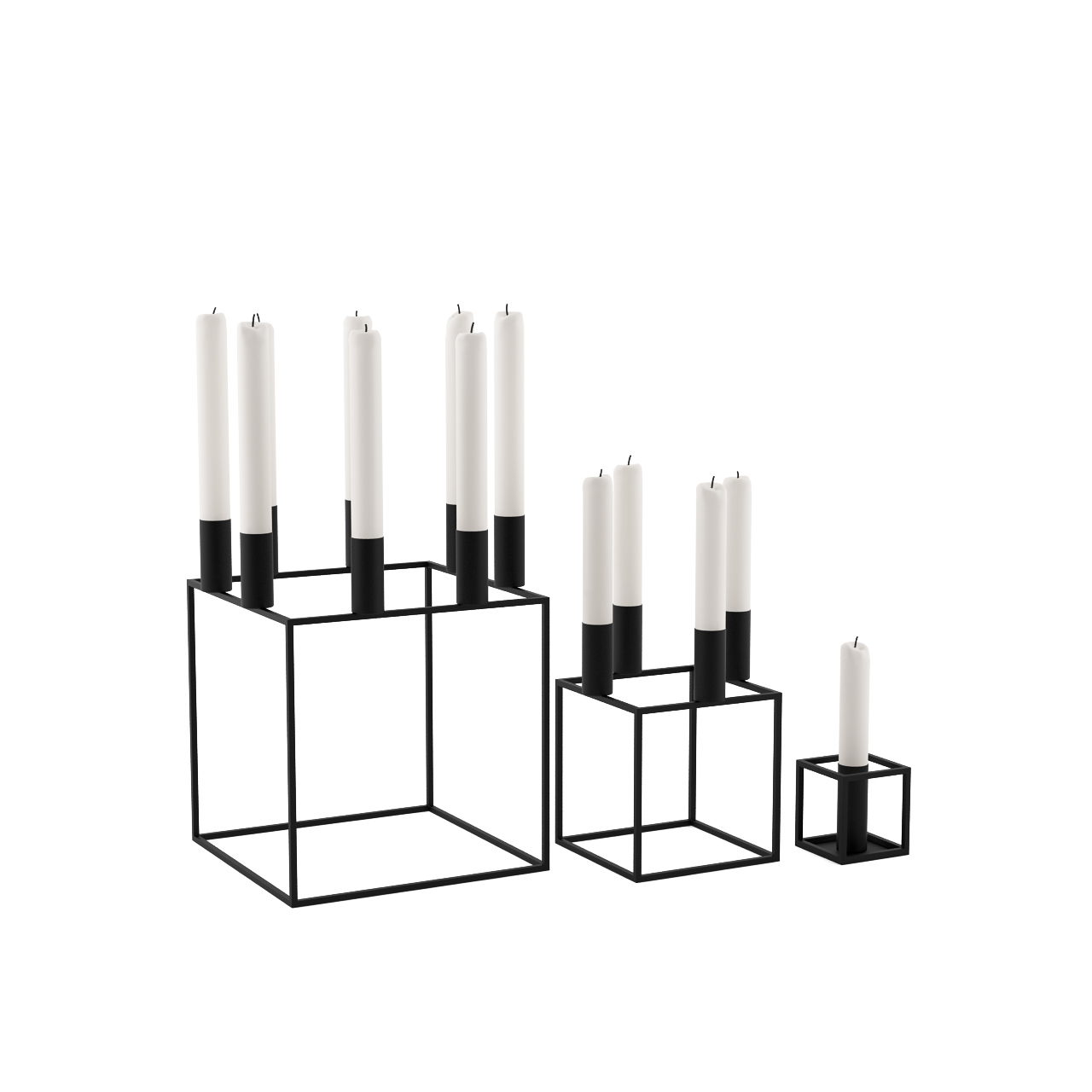 kubus candleholder by lassen dimensiva. Black Bedroom Furniture Sets. Home Design Ideas