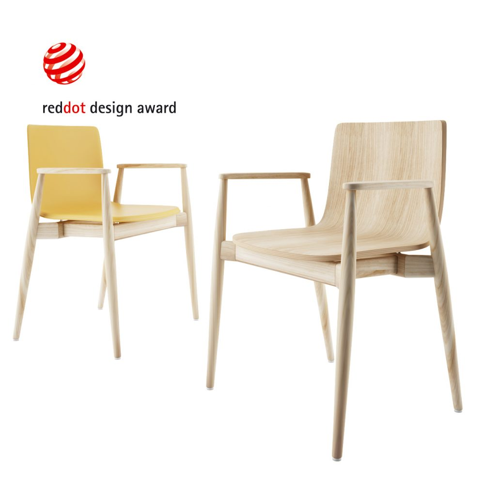 3d model Malmo Chair by Pedrali