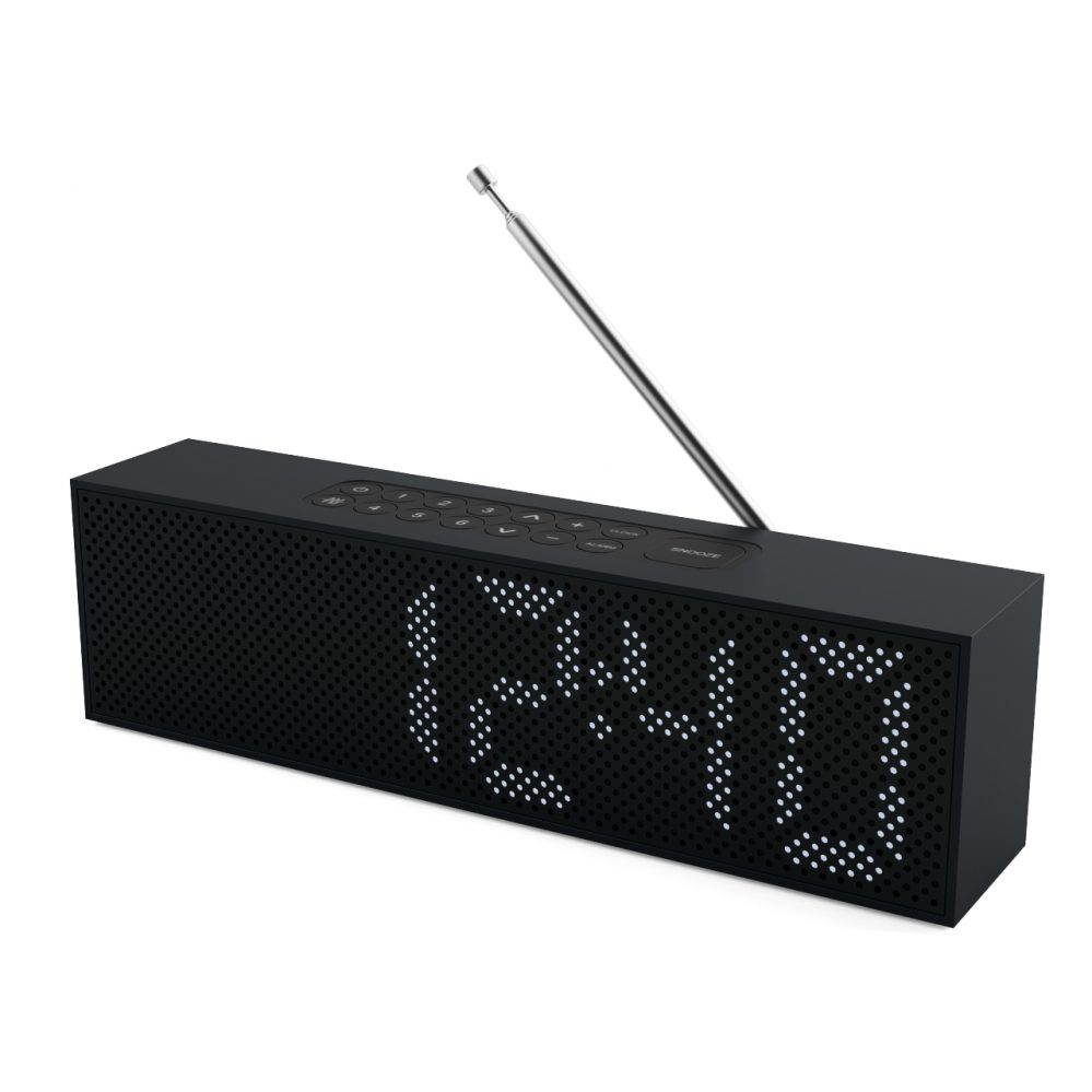 3d model Titanium Radio Clock by Lexon
