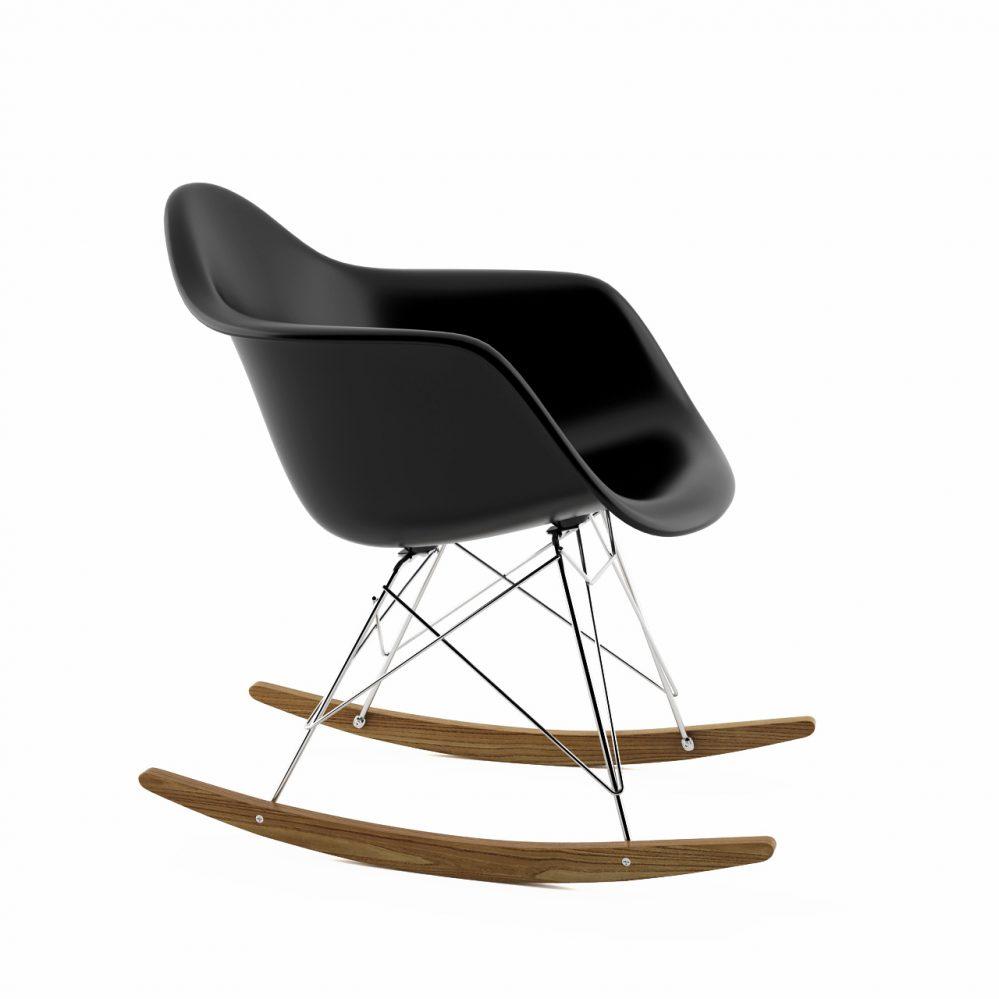 Chaise rar vitra vitra eames rar plastic rocking armchair for Chaise dsw bascule