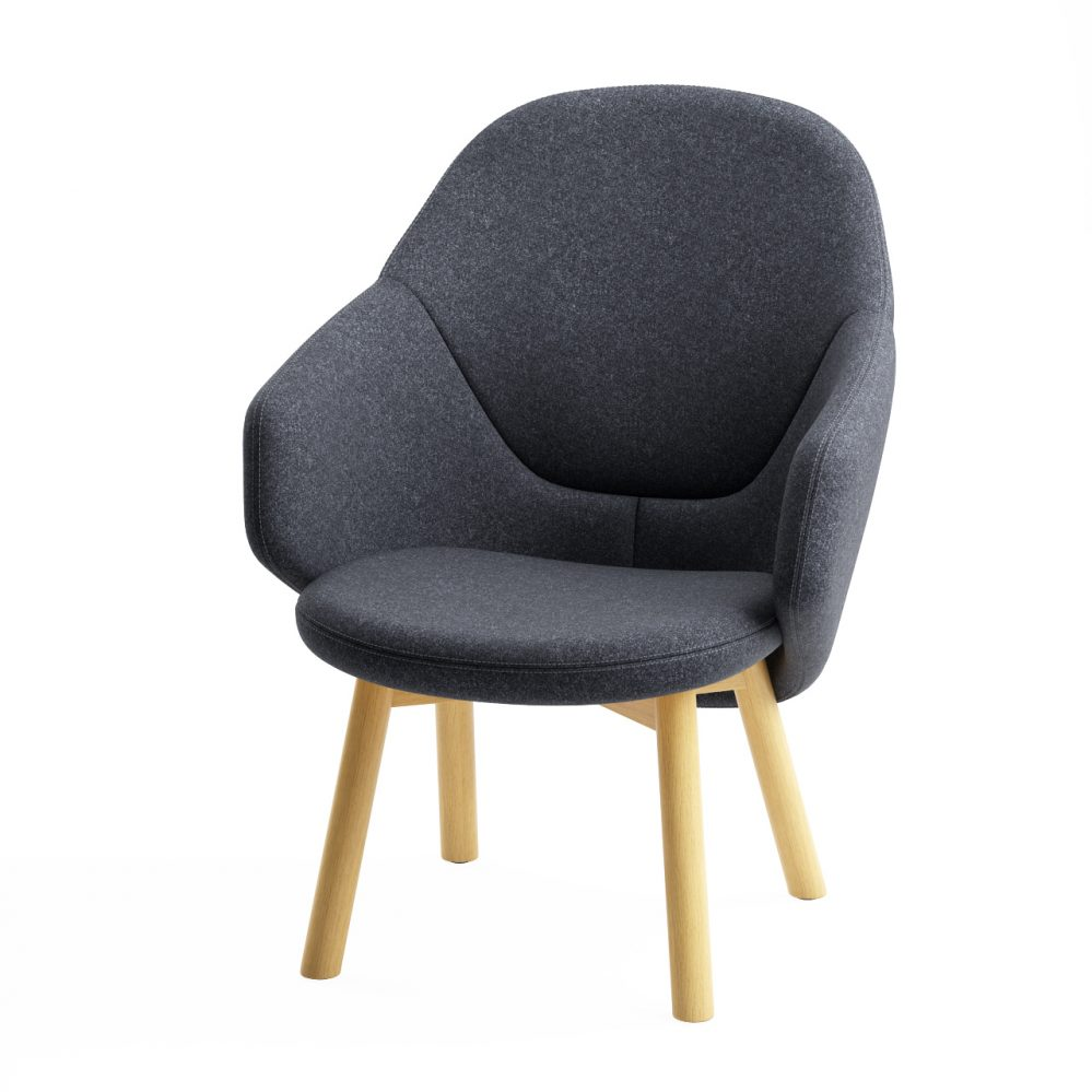 3d model Alba Lounge Armchair by Ton