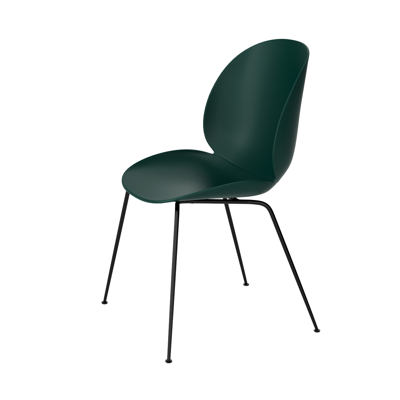 Beetle Dining Chair Un Upholstered By Gubi Dimensiva