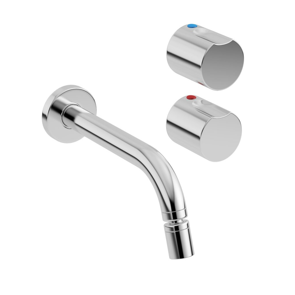 Element Wall-mounted Bidet Mixer Tap by Roca - Dimensiva