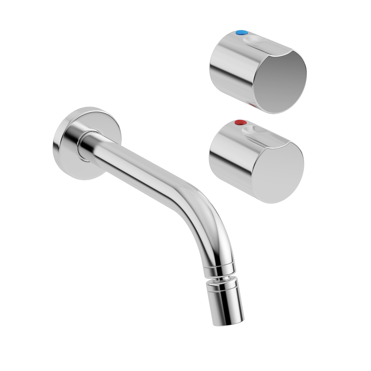 Element Wall-mounted Bidet Mixer Tap by Roca