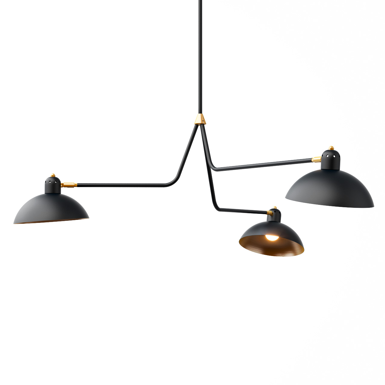 Waldorf Suspension Triple Lights by Lambert et Fils