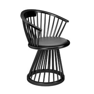 3d Model Fan Dining Chair By Tom Dixon