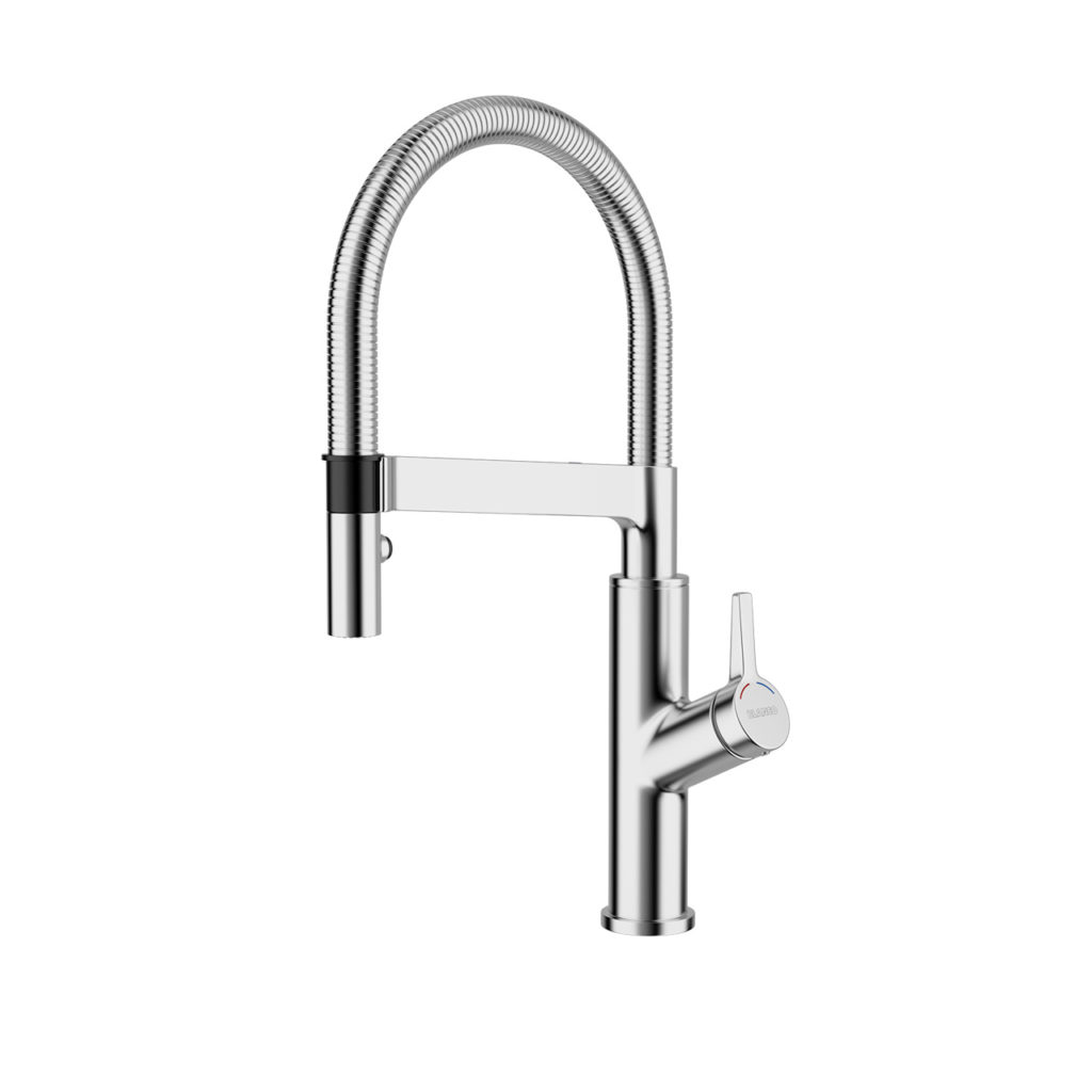 kitchen one handle sheffield pull larger out faucets steel and home down stainless view faucet