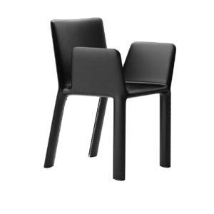 Joko Leather Armrest Chair by Kristalia
