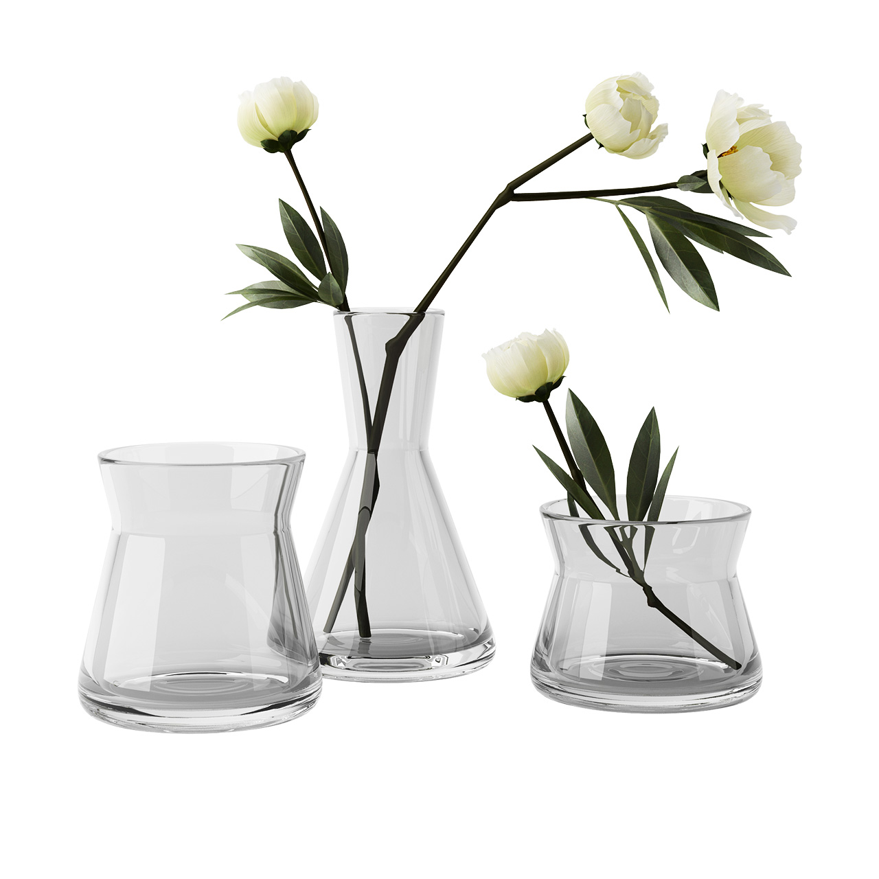Trio Vases, Set of 3 by Design House Stockholm