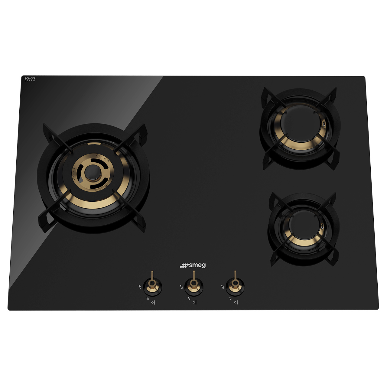 Gas Hob PC73GNO by Smeg