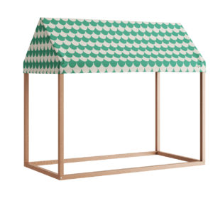 Ibiza Home Hut 126x66x113 Green Scales by Nobodinoz
