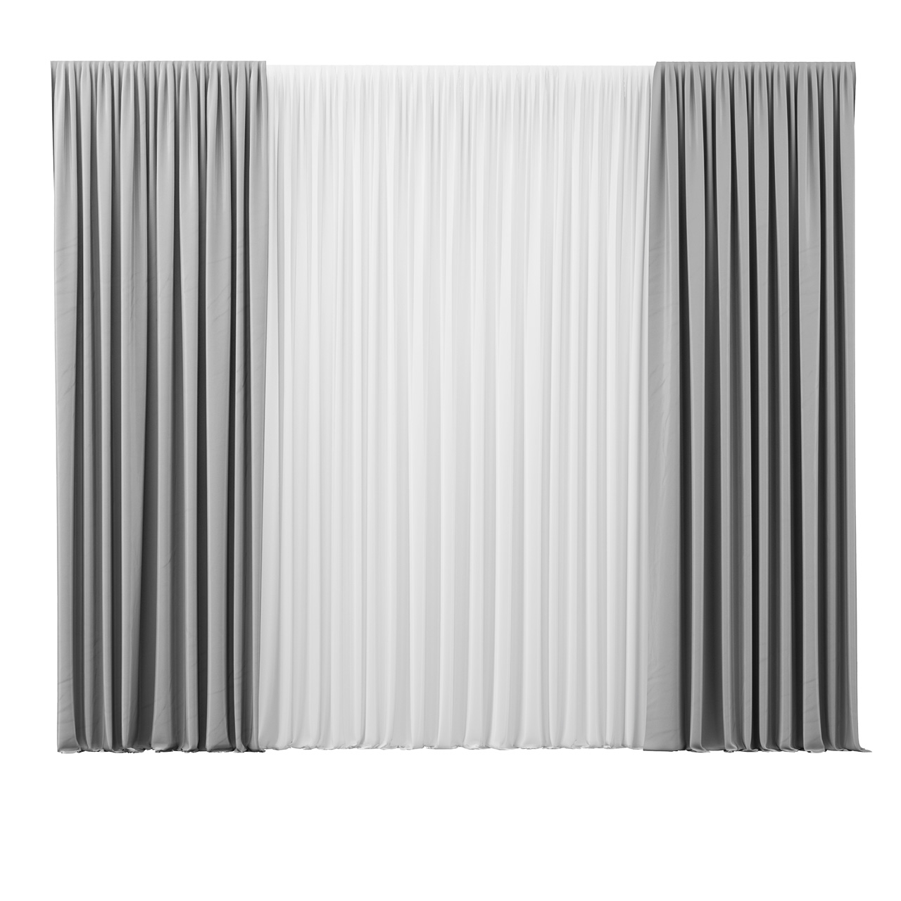 Aida Grey Curtain by Nya Nordiska