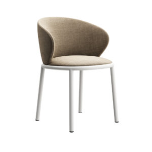 Mun Chair with Armrests by Desalto