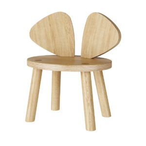 Mouse Chair Oak (2-5 Years) by Nofred