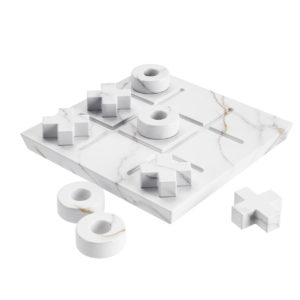 Marble Tic Tac Toe Game Set by Crate&Barrel