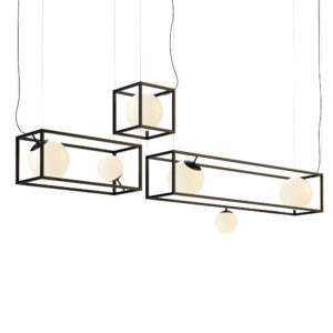 Witt 5 Chandelier by Rich Brilliant Willing