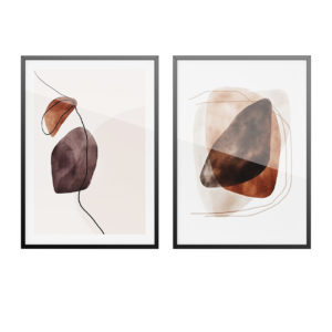 Art Prints Water Color Shapes Poster by Desenio