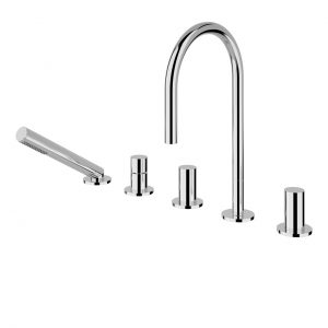 Kartell 5-Hole Deck-Mounted Bath Mixer by Laufen