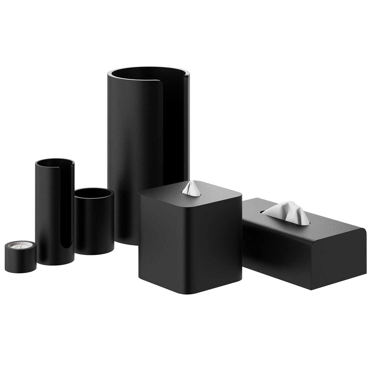 Black Stone Bathroom Accessories by Decor Walther