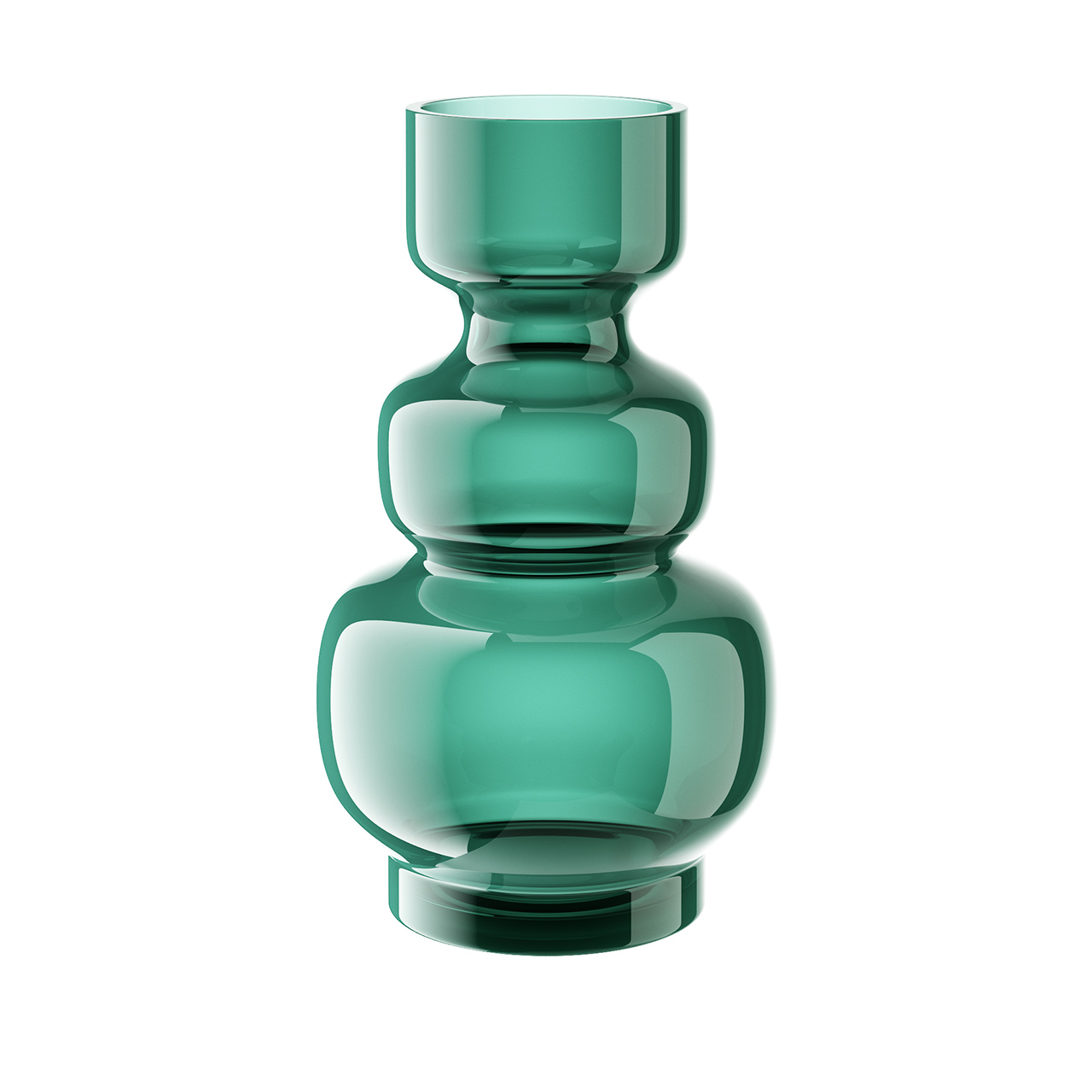 Glass Vase Green Wave by Bloomingville