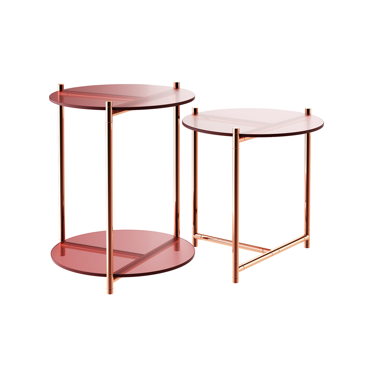 Long Playing Glass Side Table by Eponimo