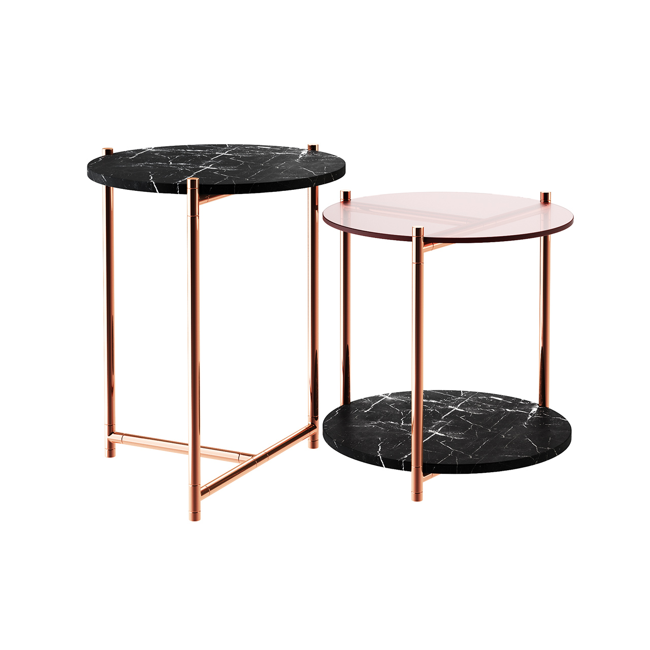 Long Playing Marble Side Table by Eponimo