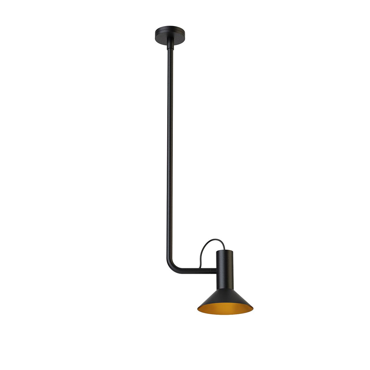 Roomor 1 Pendant Light 1681E0BK1 by Wever Ducre
