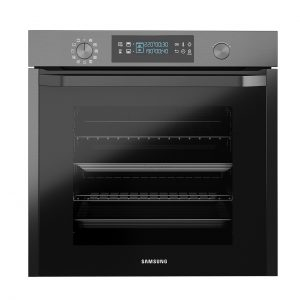 Built-in Oven With Dual Cook Black 75L by Samsung