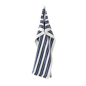 Hale Tea Off-White Blue Towel by Ferm Living